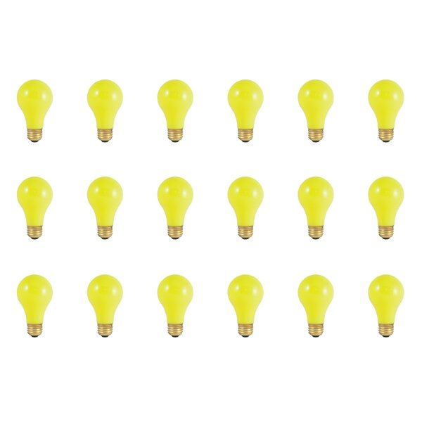 25W E26 Dimmable Incandescent Light Bulb Yellow (Set of 18) by Bulbrite Industries