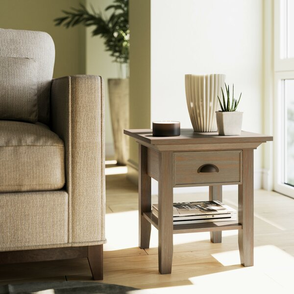 Amatury End Table With Storage By Alcott Hill