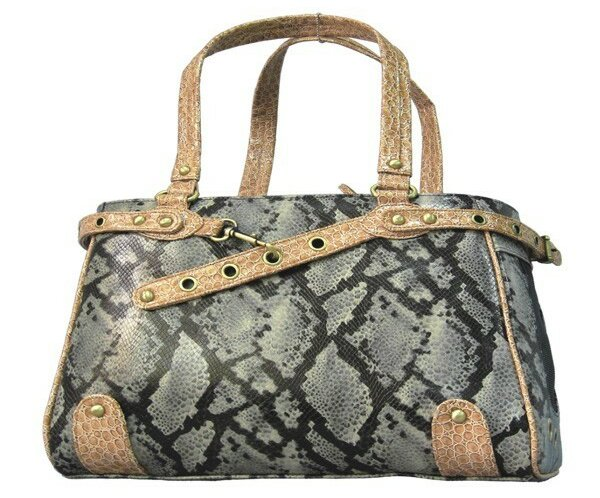 Snake Skin Handbag Pet Carrier by Backbone Pet