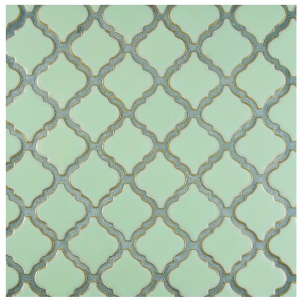 Pharsalia 2 x 2.25 Porcelain Mosaic Tile in Light Green by EliteTile