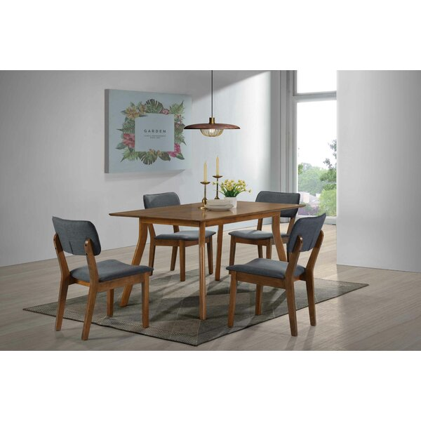 Aberdeen 5 Piece Solid Wood Dining Set by Wrought Studio