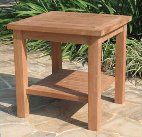 Gasaway Teak Side Table by Highland Dunes