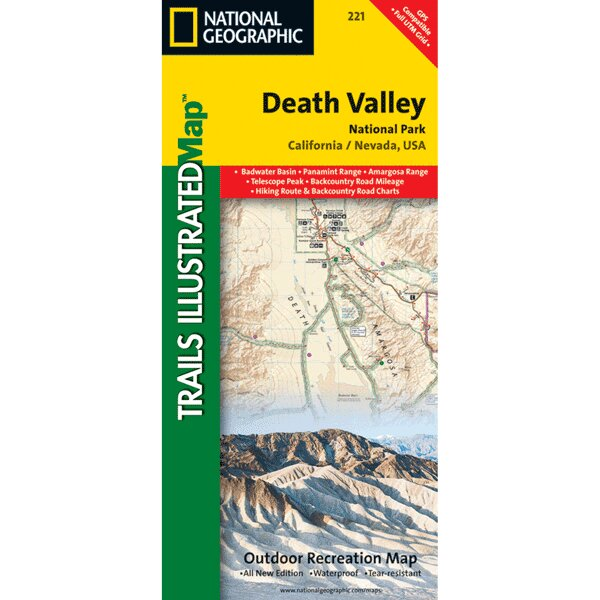 Death Valley National Park Map by Universal Map