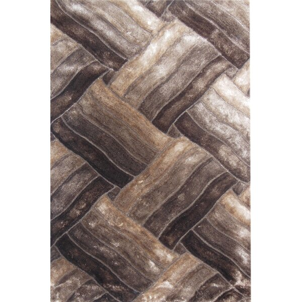 Glam Beige/Brown Area Rug by YumanMod