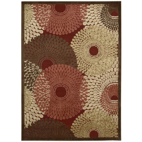 Brookview Red Area Rug by Wade Logan
