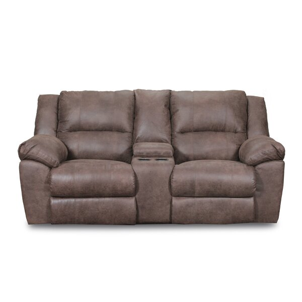 Low Priced Umberger Double Motion Reclining Sofa by Simmons Upholstery by Loon Peak by Loon Peak