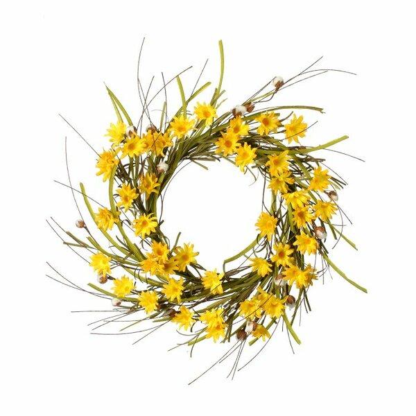 Daisy 26 Cotton Wreath by August Grove