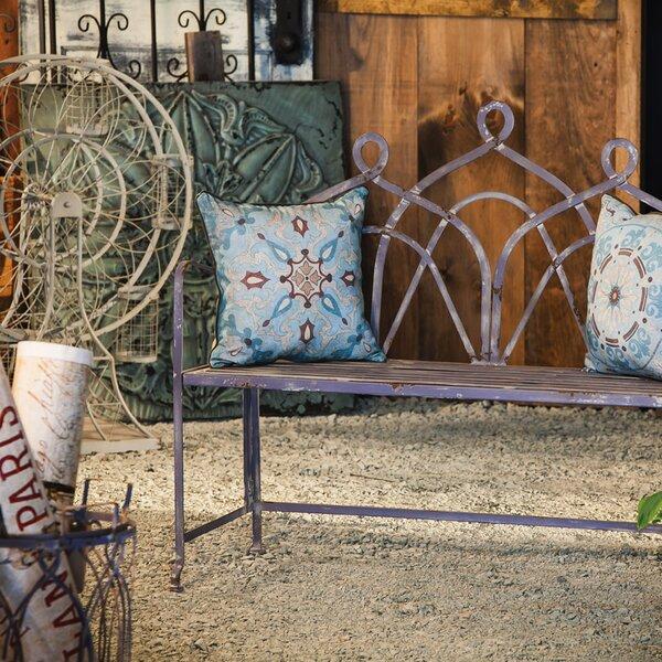 Bryne Powder Metal Bistro Garden Bench by Ophelia & Co.
