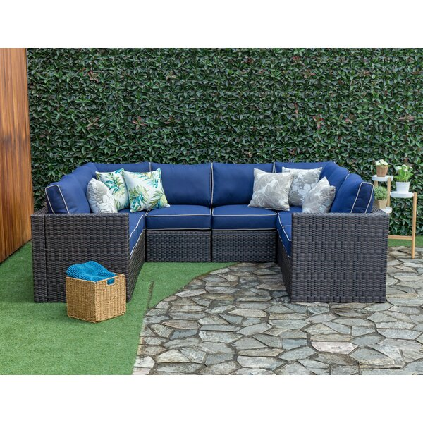 Sowa Outdoor 8 Piece Rattan Sectional Seating Group with Cushions by Breakwater Bay