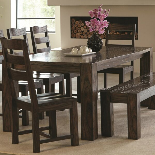 Venilale Contemporary Solid Wood Dining Table by Millwood Pines