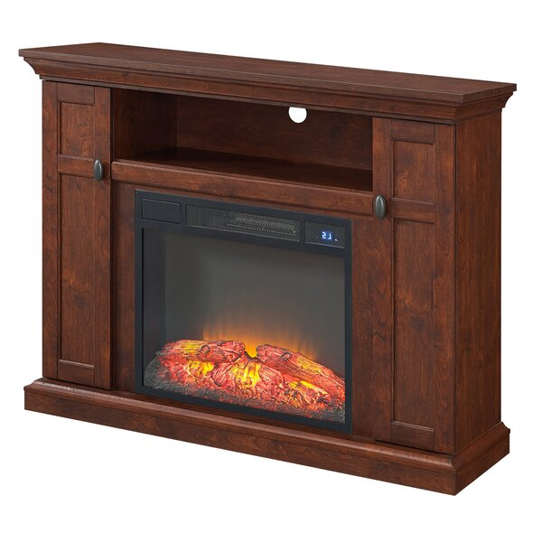 Chetek 46 TV Stand with Fireplace by Loon Peak
