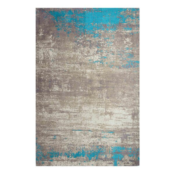Charleena Abstract Chenille Cotton Beige Sky Area Rug by 17 Stories
