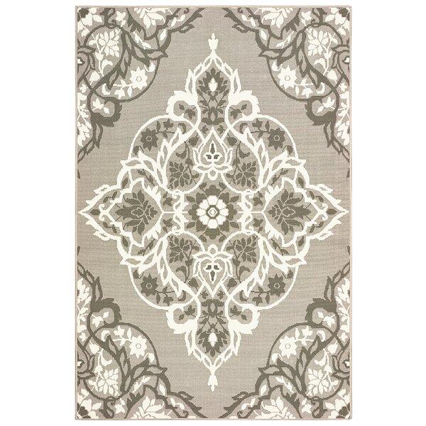 Sattler Gray/White Indoor/Outdoor Area Rug