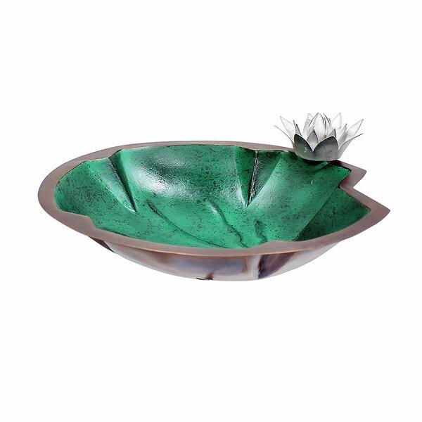 Lilypad Birdbath by ACHLA