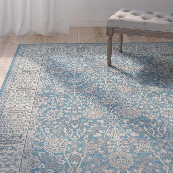 Tannen Garden Blue Area Rug by One Allium Way