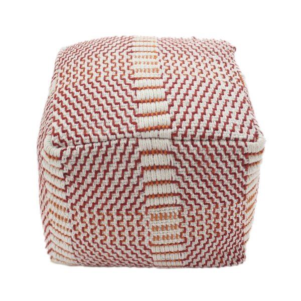 Zain Boho Square Outdoor Ottoman with Cushion by Bay Isle Home