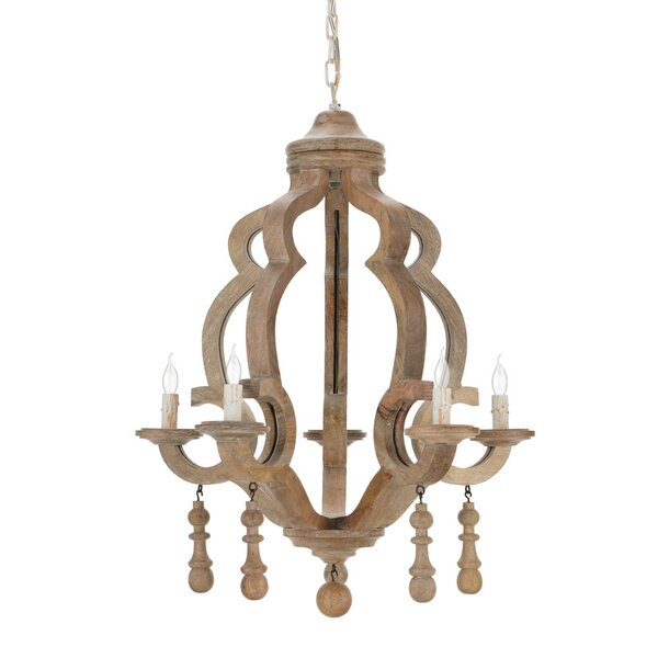 5 - Light Candle Style Empire Chandelier With Wrought Iron Accents By Birch Lane™ Heritage