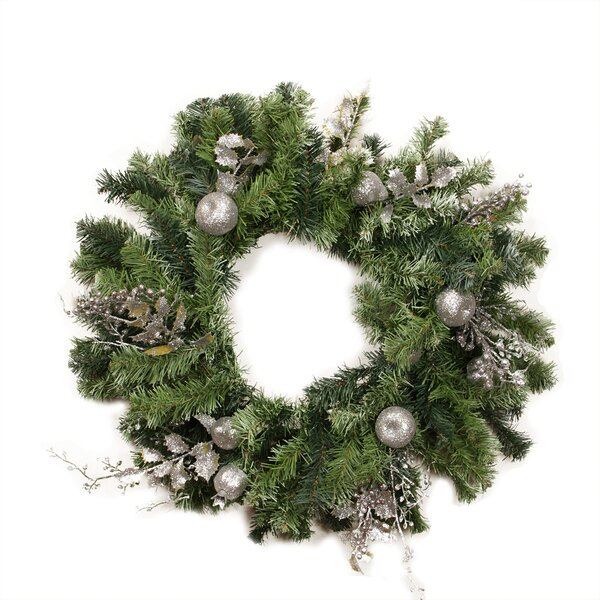 24 Artificial Fruit Holly Berry and Leaf Christmas Wreath by Northlight Seasonal