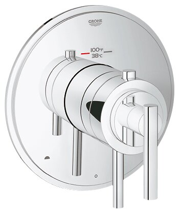 GrohFlex Timeless Dual Function Thermostatic Trim with Control Module by Grohe