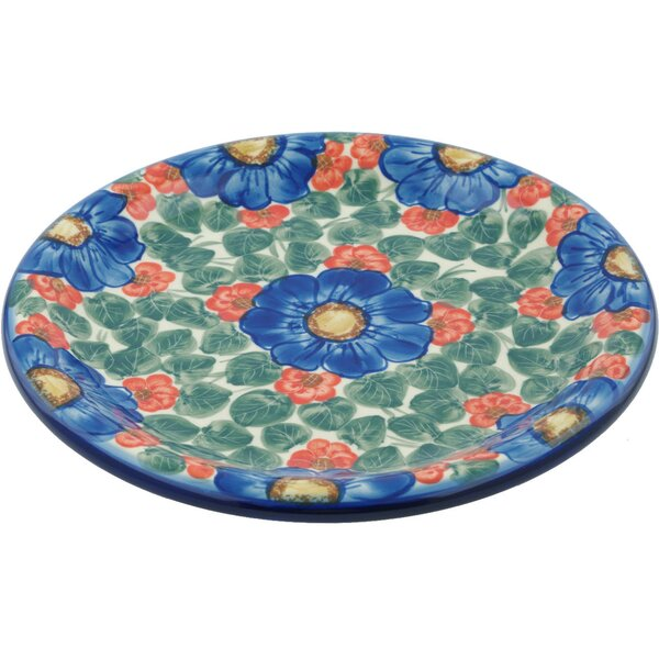 Flowers in Bloom Polish Pottery Decorative Plate by Polmedia