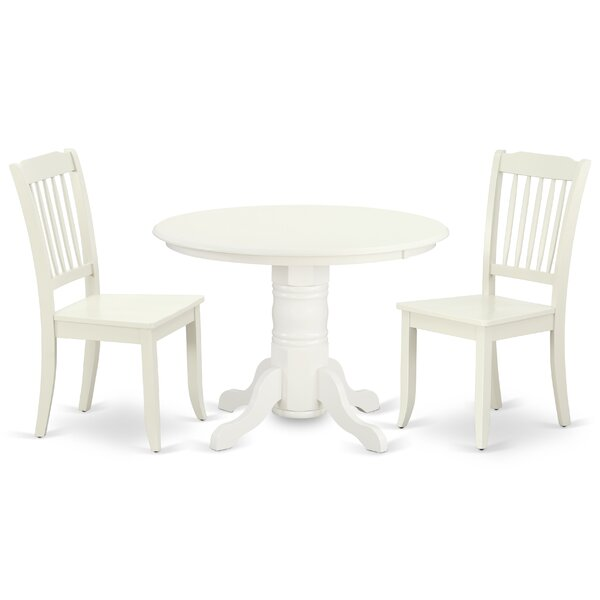 Kopf 3 Piece Solid Wood Dining Set by August Grove