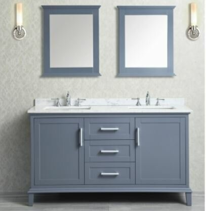 Sunderland 60 Double Bathroom Vanity Set with Mirror by Latitude Run
