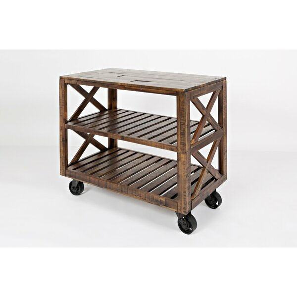 Coral Trolley Bar Cart by 17 Stories