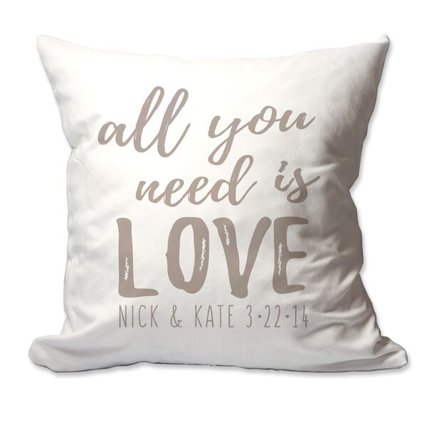 Personalized All You Need is Love Throw Pillow by 4 Wooden Shoes