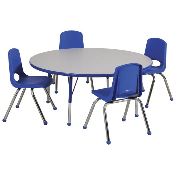 5 Piece Circular Activity Table & 12 Chair Set by ECR4kids