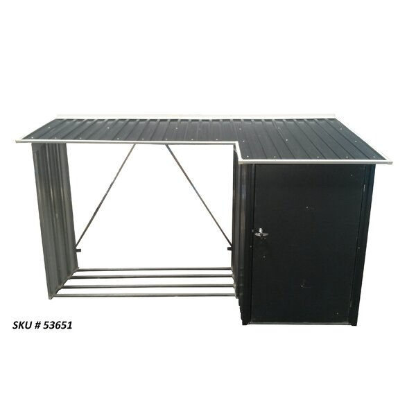 WoodStore Combo Anthracite 8.94 Ft. x 3.29 Ft. Metal Log Store by Duramax Building Products