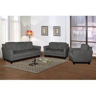 Anza 3 Piece Velvet Living Room Set by Mercury Row®