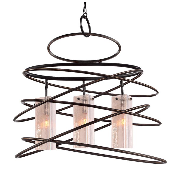 Erwan 3-Light Shaded Chandelier Geometric Chandelier By Ebern Designs