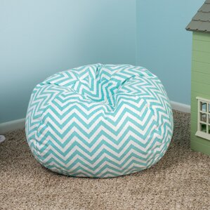 Chevron Bean Bag Chair by Viv + Rae