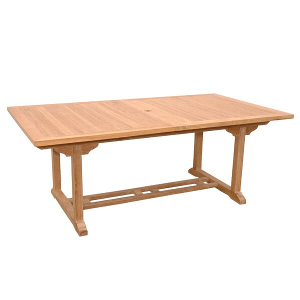 Bourg Solid Wood Dining Table by Freeport Park