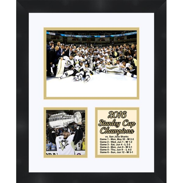 Pittsburgh Penguins Champion Matt Murray holding the 2016 Stanley Cup Collage Framed Photographic Print by Frames By Mail