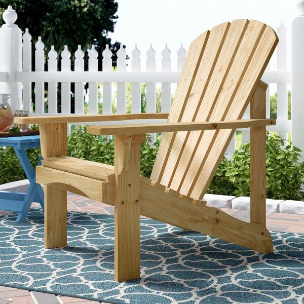 Biddeford Solid Wood Adirondack Chair by Beachcrest Home