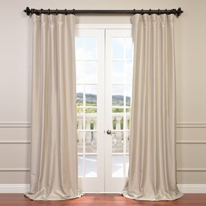 Avedon Solid Max Blackout Thermal Rod Pocket Single Curtain Panel
