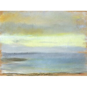 'Marine Sunset' by Edgar Degas Painting Print on Rolled Canvas by Beachcrest Home