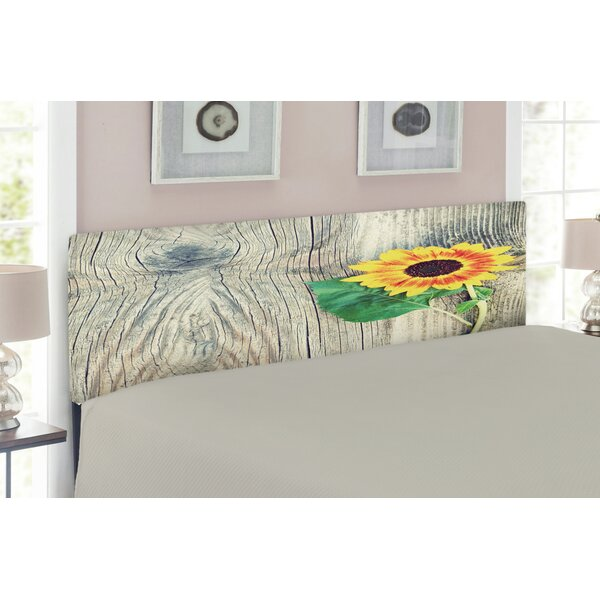 Sunflower Upholstered Panel Headboard by East Urban Home