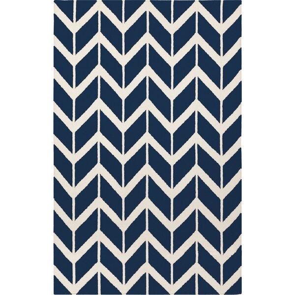 Fallon Sapphire Hand-Woven Blue Area Rug by Jill Rosenwald Home