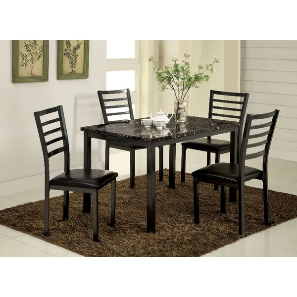 Hartzler 5 Piece Dining Set by Red Barrel Studio