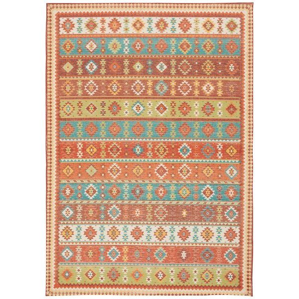 Union Point Moroccan Tribal Light Orange Area Rug by Bungalow Rose