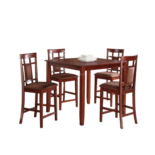 Inoue 5 Piece Counter Height Dining Set by Winston Porter