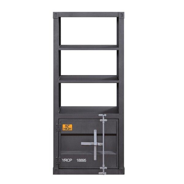 Taelyn Metal Left Side Pier Standard Bookcase By Breakwater Bay