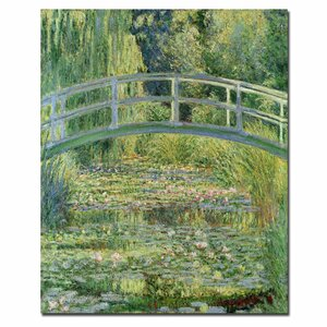 The Waterylily Pond Pink Harmony 1899 by Claude Monet Painting Print on Wrapped Canvas by Trademark Fine Art