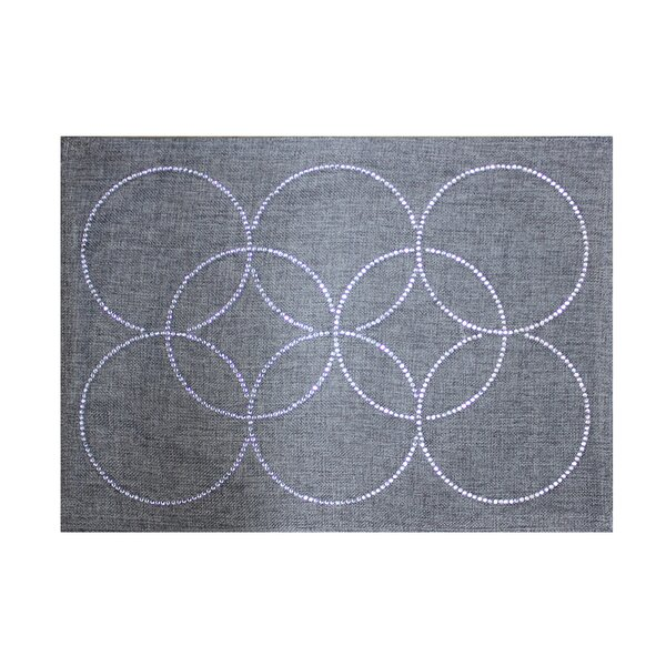 Rhinestone Circles Placemat by Sparkles Home