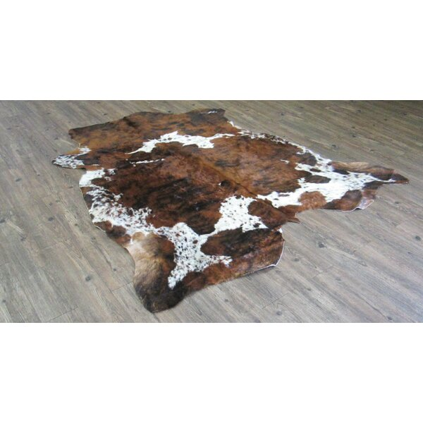 Tolland Hand-Woven Cowhide Brown Area Rug by Loon Peak