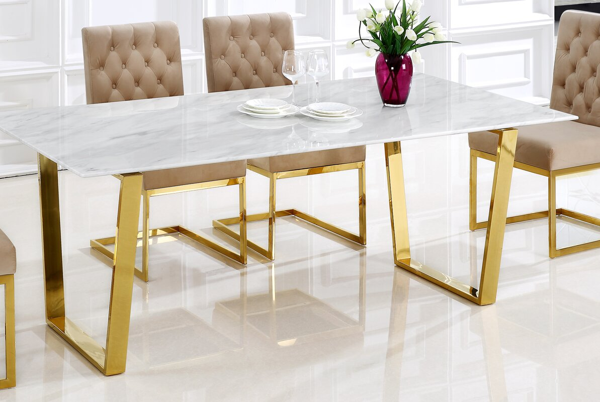Willa arlo interiors germana dining table reviews wayfair for Wayfair furniture dining tables