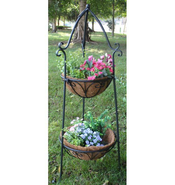 Two Tier Metal Plant Stand by Hi-Line Gift Ltd.