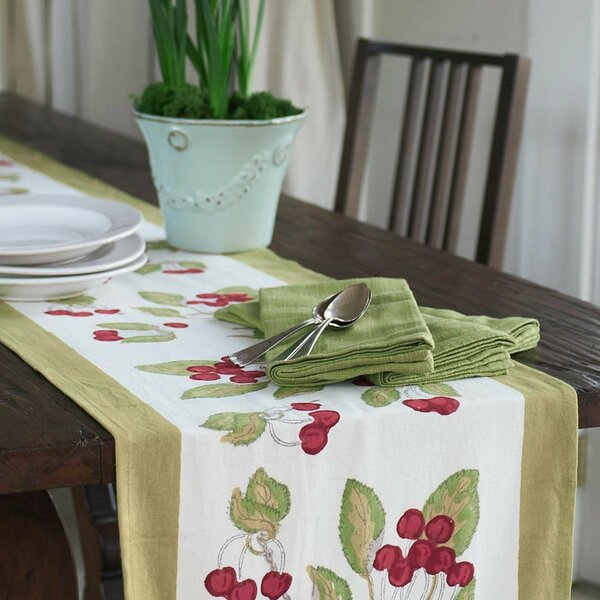 Cherry Table Runner by Couleur Nature